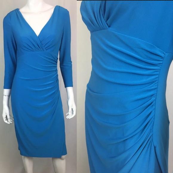 Ralph Lauren Dresses & Skirts - Ralph Lauren Stretchy Jersey Faux-Wrap Dress